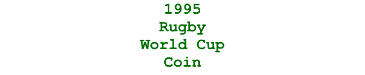 1995  Rugby  World Cup Coin